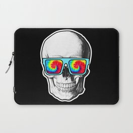 Psychadelic Skull Tiedye glasses Laptop Sleeve