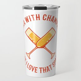 Vodka & Champaign Funny Party Office Gift Travel Mug