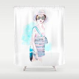 SpringChanel no 1 Shower Curtain