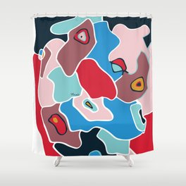 Color spots Shower Curtain