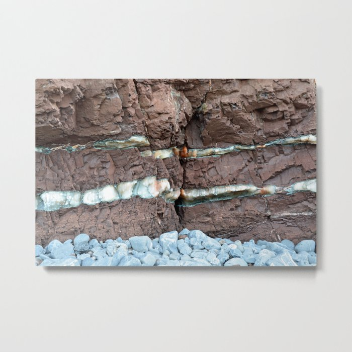 Colourful Rock Abstract Metal Print