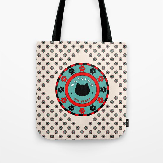 Katsino Las Vegas (animals cats) Tote Bag