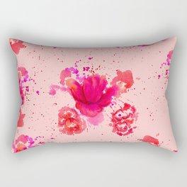 Purple Watercolor Flower Rectangular Pillow