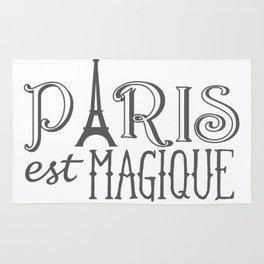 Paris Est Magique - Black And White Rug