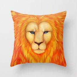 Solar King Throw Pillow