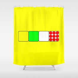 The Bicycle Race Jerseys 2 Yellow Shower Curtain