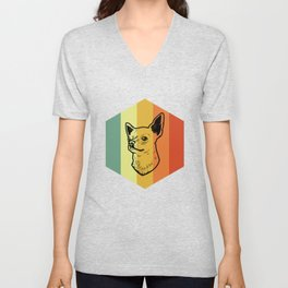 CHIHUAHUA Vintage Dog T-Shirt Unisex V-Neck