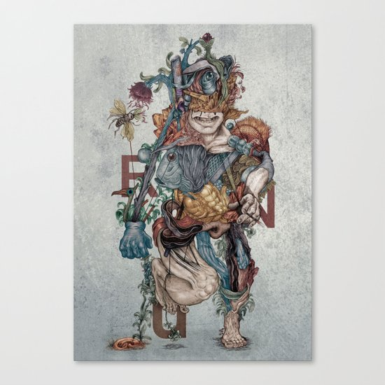 Human naturally Canvas Print