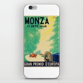 Grand Prix Monza, 1949, Gran Premio Monza, vintage poster iPhone Skin