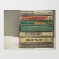 sonic youth Canvas Prints featuring Sonic youth tapes by mijofeo