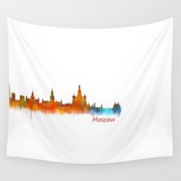 Moscow City Skyline art HQ v2 Wall Tapestry