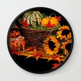 Halloween pumkin Wall Clock