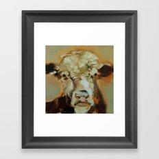 Hereford Cow Framed Art Print
