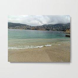 Villefranche Sur Mer and Beach Metal Print