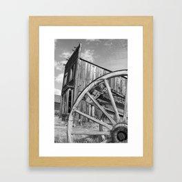 Ghost Town Bodie Wagon Wheel Eastern California Framed Art Print