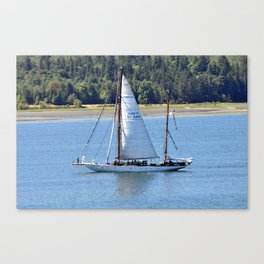 Canadian Navy Sailboat Canvas Print