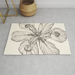 Floral Ink Illustration Rug