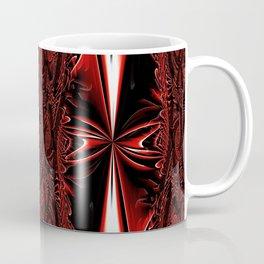 Red FIS Cross Abstract 3 Coffee Mug