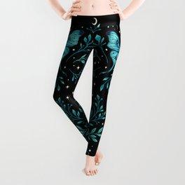 Mystical Luna Moth - Turquoise Leggings