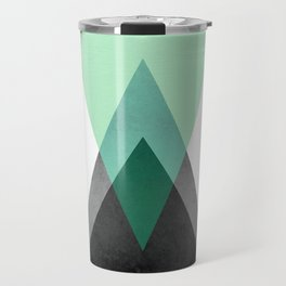 Green Geometric Print Travel Mug
