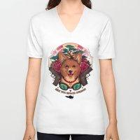 cowboy bebop V-neck T-shirts featuring See You Space Cowboy by Megan Lara