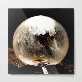 Bubble Frozen in Time Metal Print