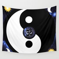 namaste Wall Tapestries featuring Namaste by PlanetaryDreamz