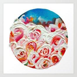 Roses on Fire Art Print