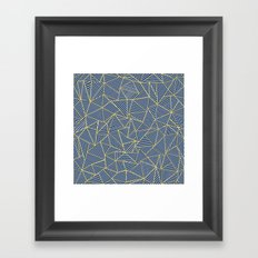 Ab Out Double R Navy Framed Art Print