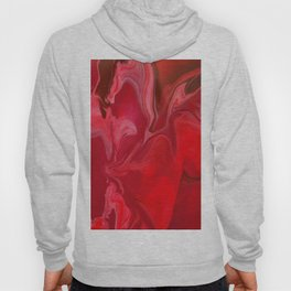 Fluid Nature - Burning Reds - Abstract Acrylic Pour Art Hoody