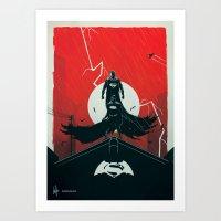 Knight V Alien  Art Print