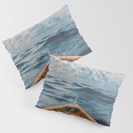 Alone at Sea-The canoe Pillow Sham