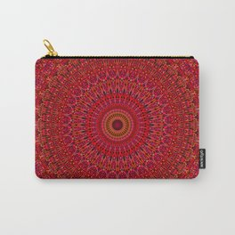 Red Lace Ornament Mandala Carry-All Pouch