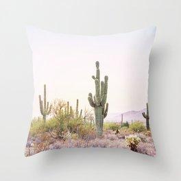 Cactus In The Desert Throw Pillow