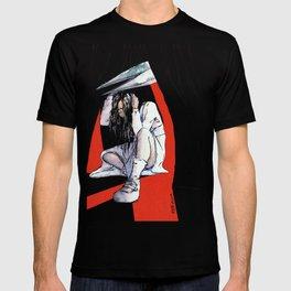 Clock Tower - Jennifer vs Scissorman T-shirt