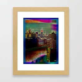 Manipulated City Framed Art Print