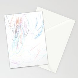 Mostly Blue Scribbles Stationery Cards