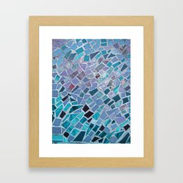 Crashing Waves Mosaic Framed Art Print