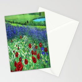 Blooming field Stationery Cards