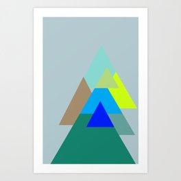 Triangles - mud color scheme  Art Print