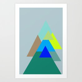 Triangles - mud color scheme  Art Print