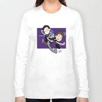 phil jones Long Sleeve T-shirts featuring Dan & Phil by gabitozati
