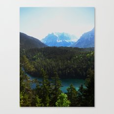 River en Route to Hopfgarten, Austria Canvas Print