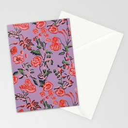 Abstract Florals Stationery Cards