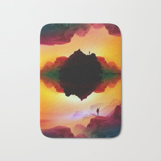 Vibrant Isolation Island Bath Mat
