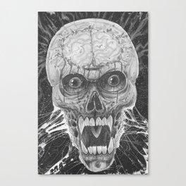 Vampire Skull Noir Art Canvas Print