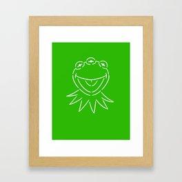 Monsanto Kermit (green) Framed Art Print