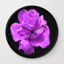 Majestic  Lavender Rose Wall Clock
