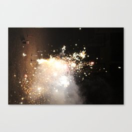 New Years Fireworks Canvas Print