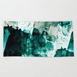 emerald & moss green Beach Towel